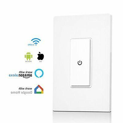 rec wi fi light switch with push