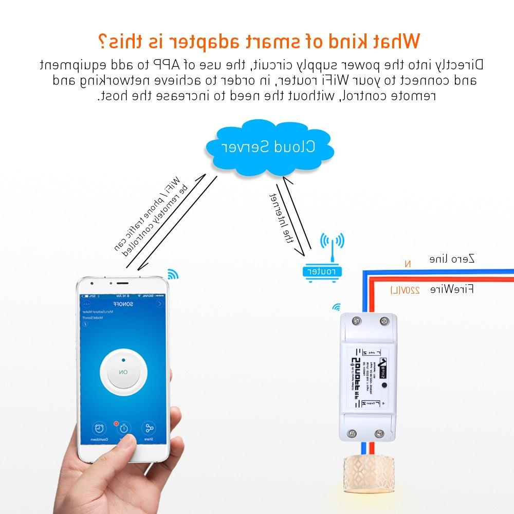SONOFF RF WiFi Smart Switch 433Mhz Remote Smart <font><b>Home</b></font> <font><b>Automation</b></font> Modules Diy 220V 433mHz
