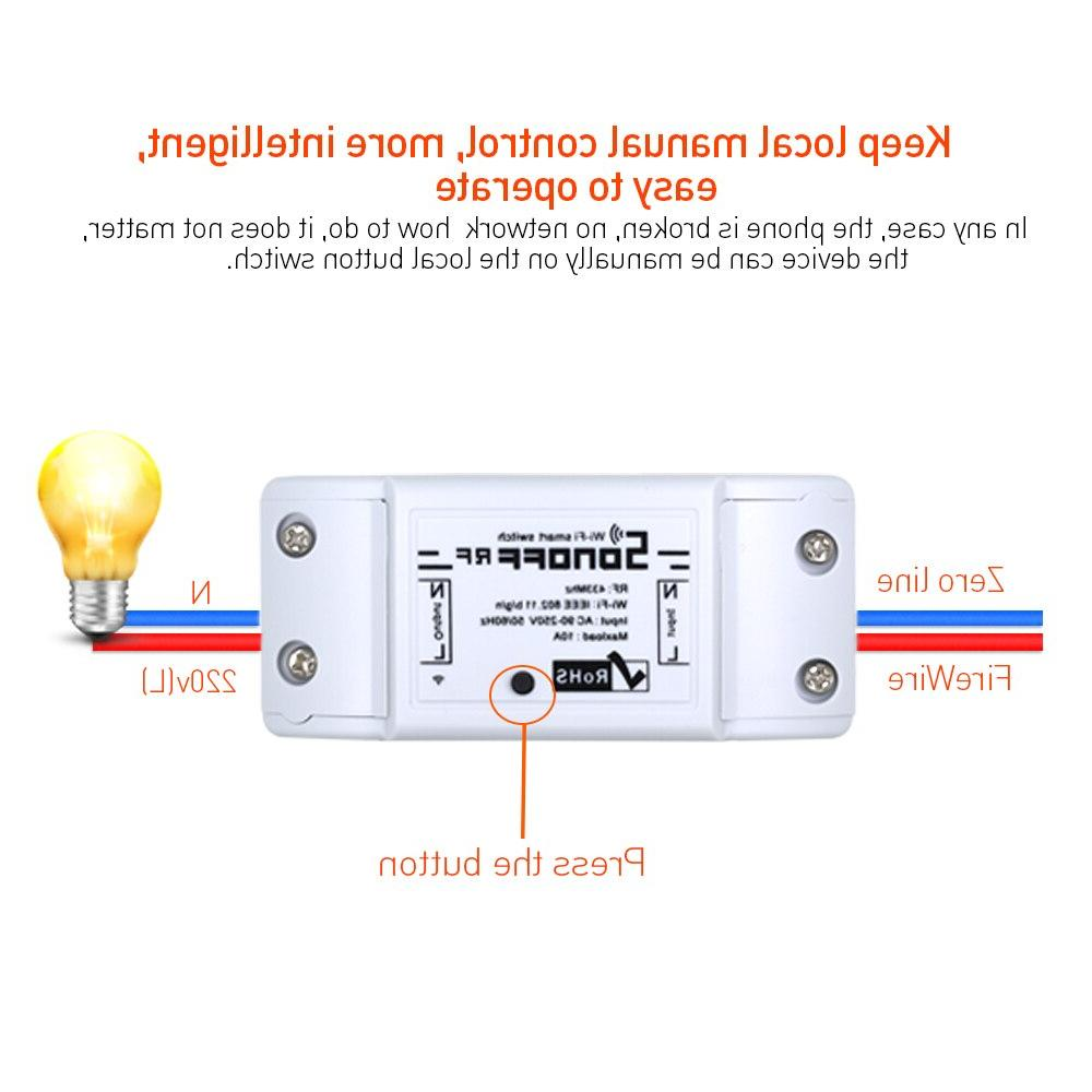 SONOFF RF WiFi Smart Switch 433Mhz Smart <font><b>Home</b></font> Modules Diy 90-250V 220V