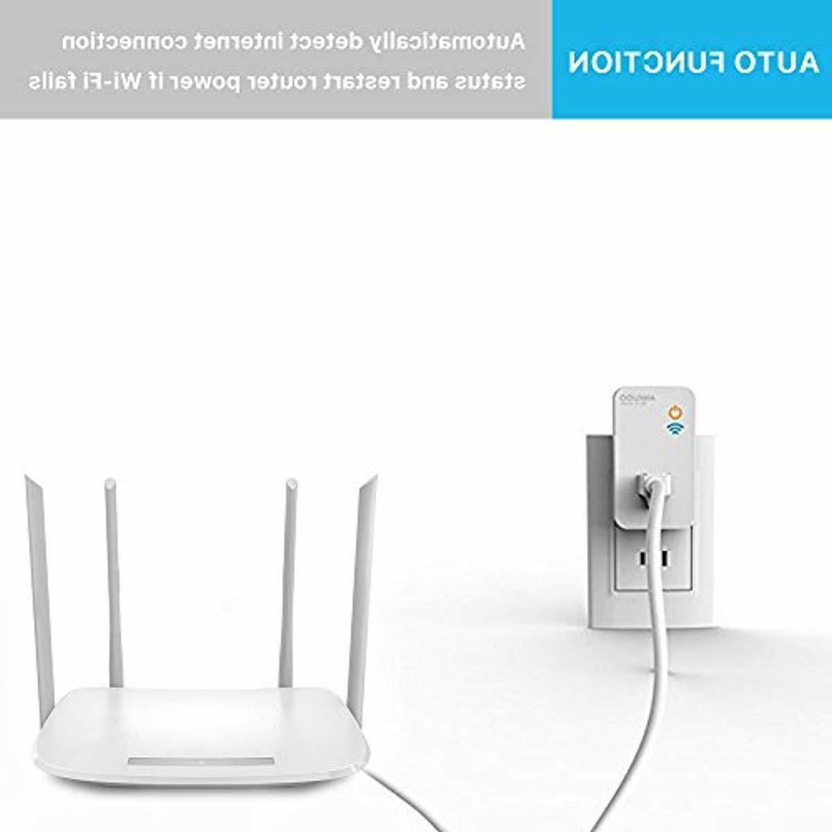 Ankuoo Reset Plug WiFiRestart Socket Monitor/Modem/Access