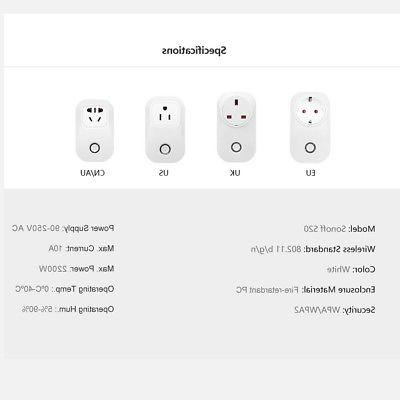 Sonoff S20 US WiFi Timer Socket Adapter Control