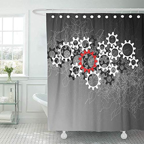 shower curtain waterproof adjustable polyester