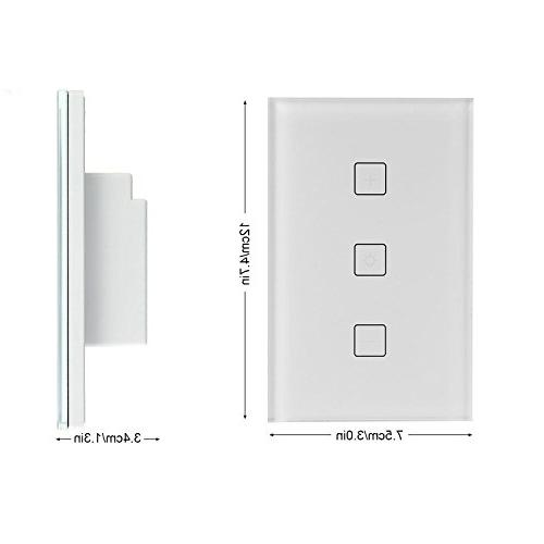 Teepao Smart Dimmer Wireless Wifi Touch Wall Panel with Home/APP Remote Control, Android - Line Required