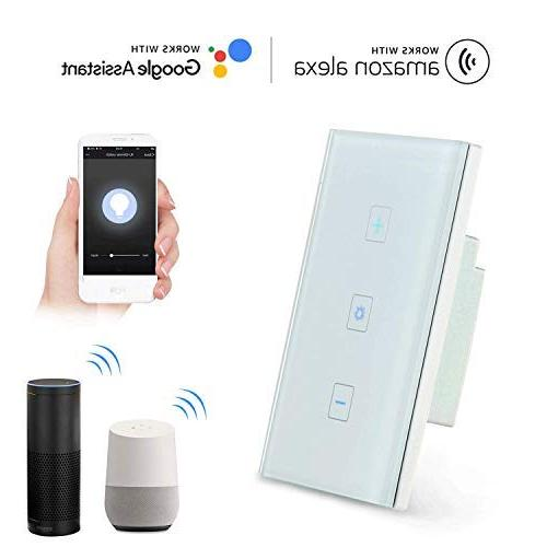 Teepao Smart Dimmer Wall Panel Compatible with Control, and Android System, AC 100-240V - Line Required