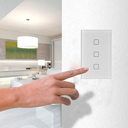 Teepao Wireless Dimmer Wall Panel Compatible with Control, IOS and Android - Required