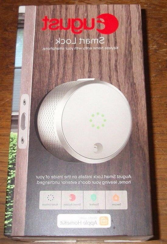 smart lock homekit enabled silver motorized electronic