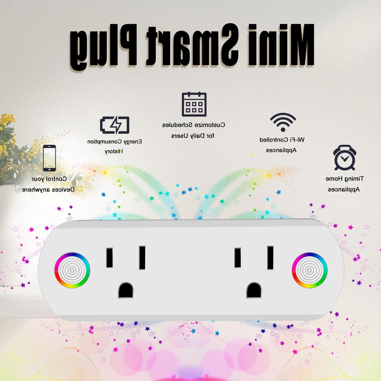 Smart Plug WiFi Socket 2 Outlet Switch Google Home