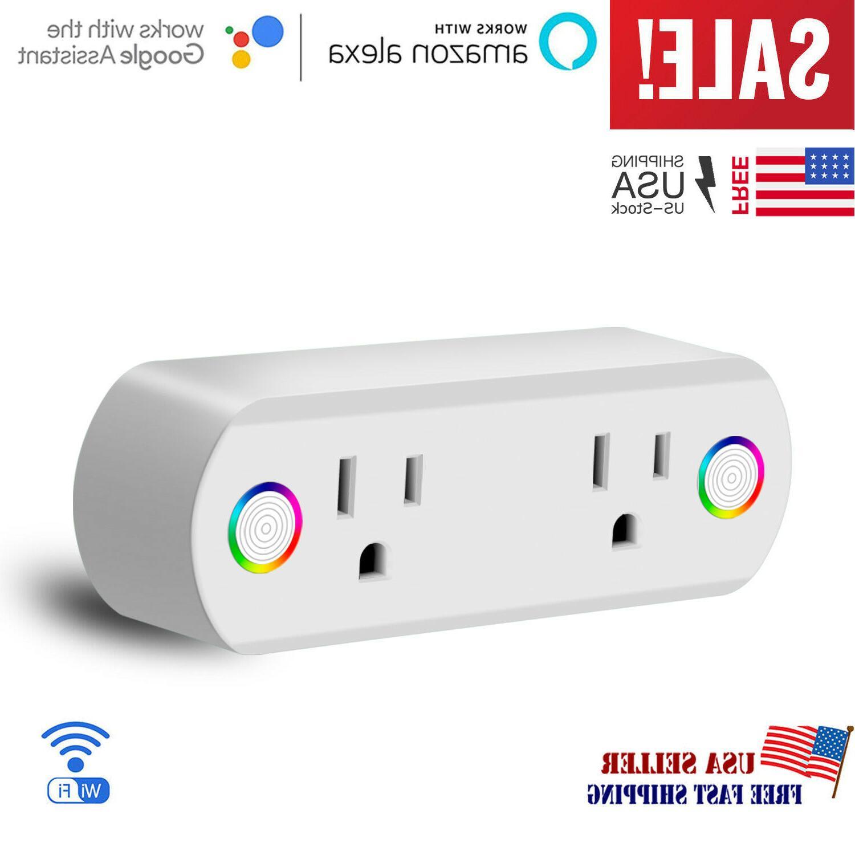 smart plug wifi socket 2 outlet remote