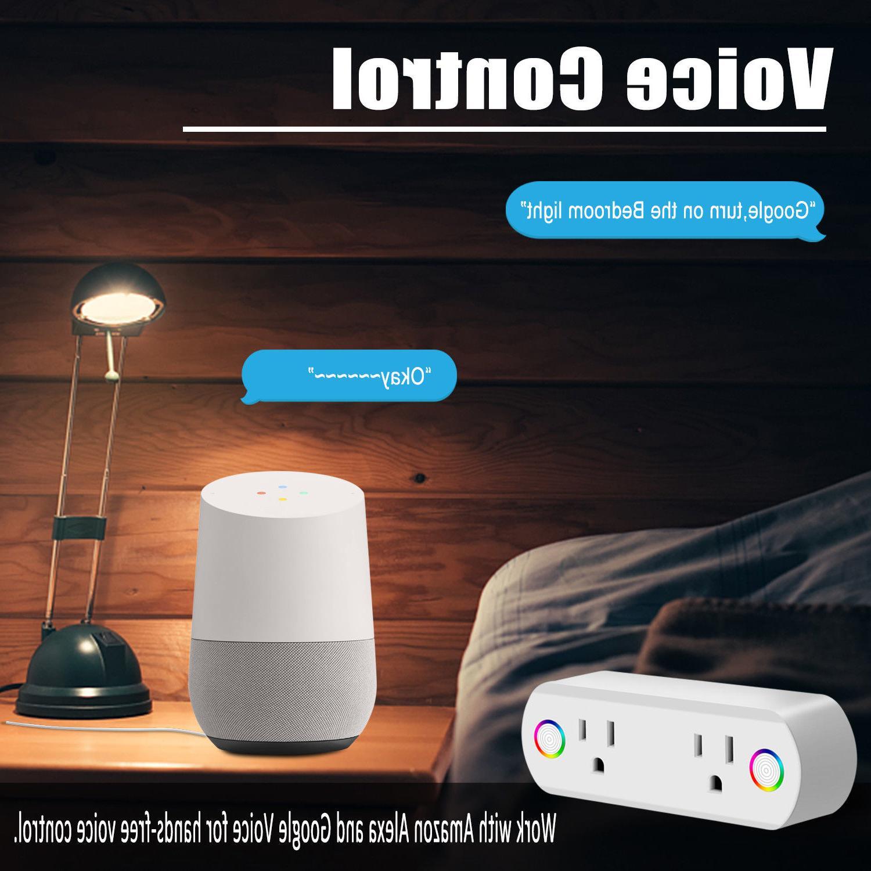 Smart Plug WiFi 2 Remote Switch Work Alexa Google