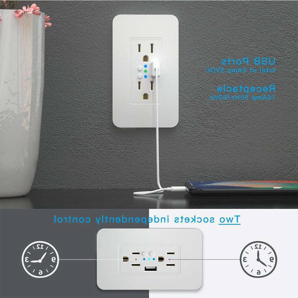 Smart Wall WiFi Socket Control Time Alexa Home