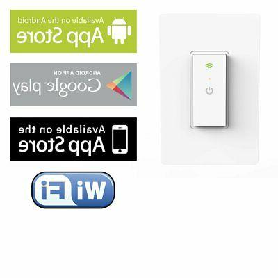 Ankuoo Smart Wifi Switch with Remote and Timer Hub