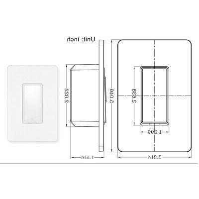 APP Smart Wifi Switch Home Automation Smart Home Wall Light