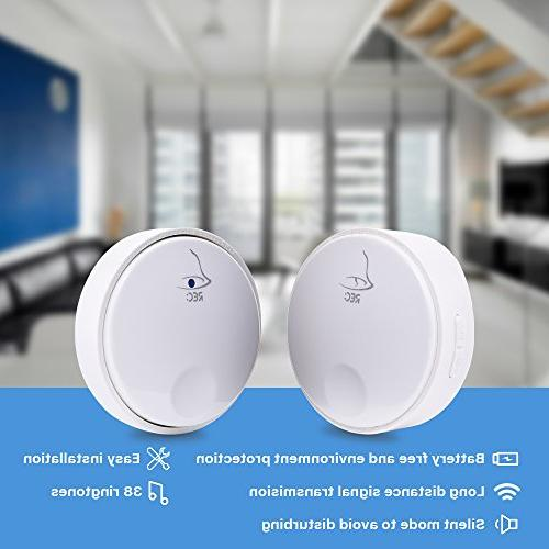 Ankuoo REC Doorbell, Battery Required For White