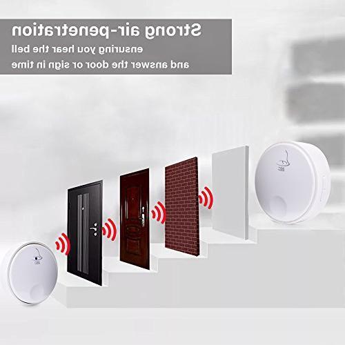 Ankuoo REC Self-Powered Doorbell, Battery For White