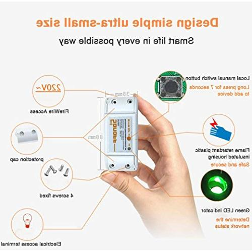 Sonoff Smart Timer Remote Via IOS Android 10A/2200W