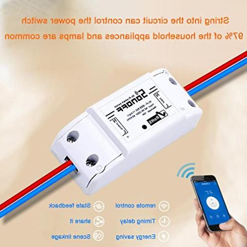 Sonoff Smart Home Automation Module Timer Diy Remote IOS Android