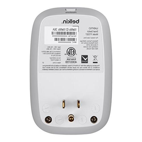 WeMo Switch Smart Works with