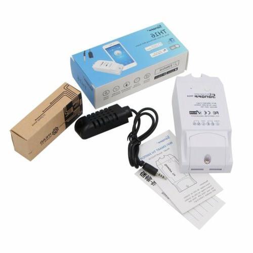 Sonoff TH16 WiFi Switch Temperature Monitoring DIY Smart Home