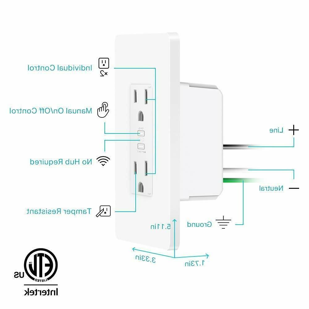 TP-Link Kasa 2-Outlet Wi-Fi Alexa Google | KP200