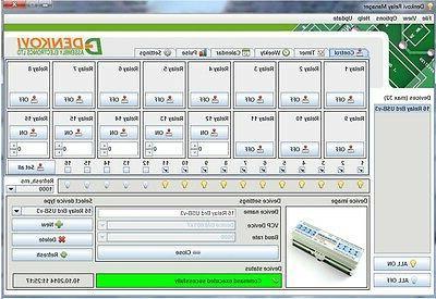 USB 16 Relay Module,Board for - 12V DIN Rail