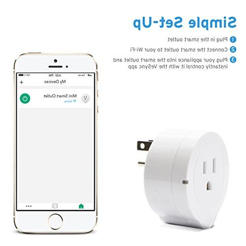 Etekcity Smart Plug, Energy Monitoring Outlet with No Hub with Google and IFTTT, ETL Listed, White, and