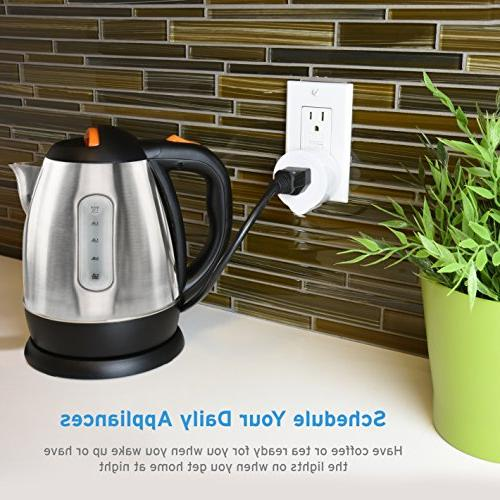 Energy Wireless Outlet with No Required, with Alexa, and White, 2 and Lifetime Support