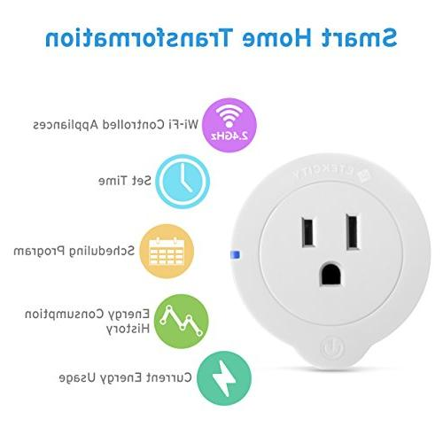 Etekcity WiFi Smart Energy Mini Outlet , No Hub with Alexa, Home and ETL and Lifetime