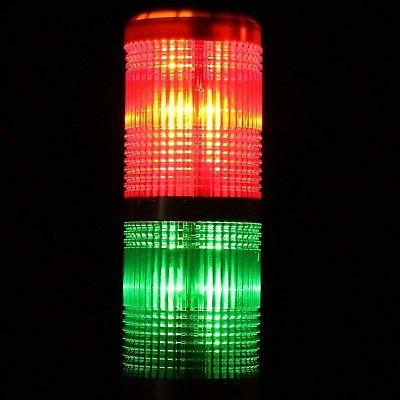 uxcell Warning Bright Tower Lamp DC24V Red Green