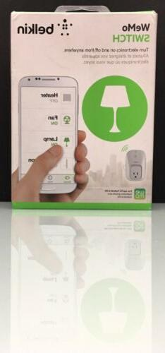 Belkin WeMo WiFi White Switch Smart Plug F7C027
