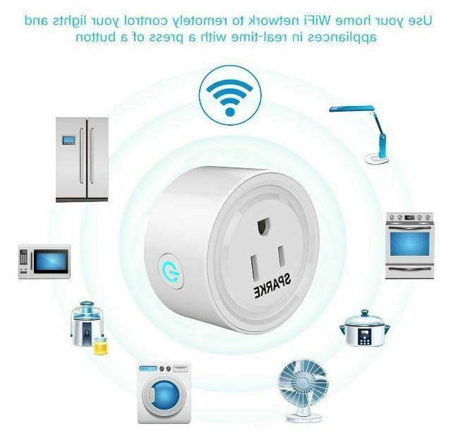 WiFi Smart Plug Power Switch Alexa Smart Wireless Socket New