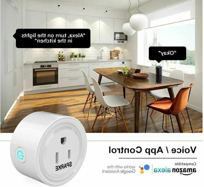 WiFi Smart Plug Pcs Switch Alexa Smart Wireless