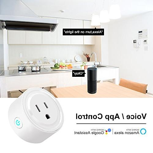 Wifi Smart Switch Outlet Timing Function for IOS/Android, Works Amazon Alexa & Home, Hub Your