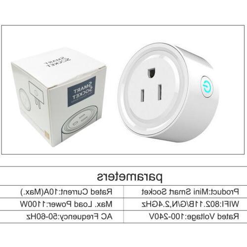 Wifi Smart Plug Control Socket w/ Alexa Assistant