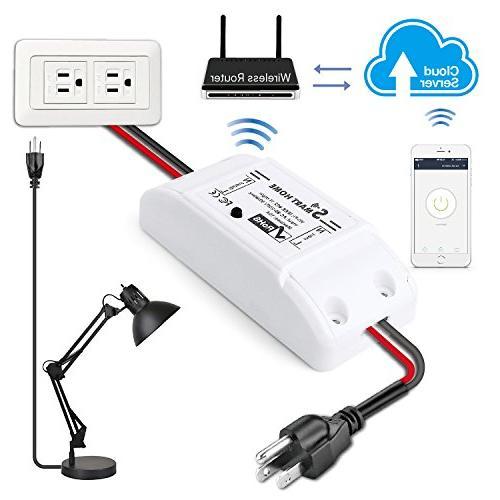 TNP Smart Home Module Amazon Alexa Google Compatible Appliance Wireless Outlet Socket Controller