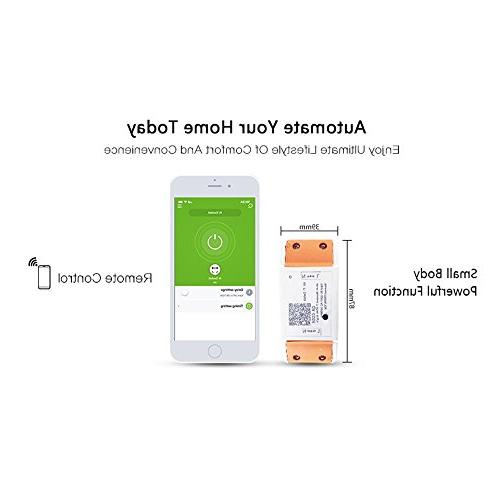 WiFi Switch Remote Control Light Timer Relay Home With Amazon Alexa