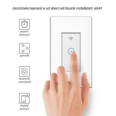 110V Smart Light Switch For Alexa Google US Plug APP