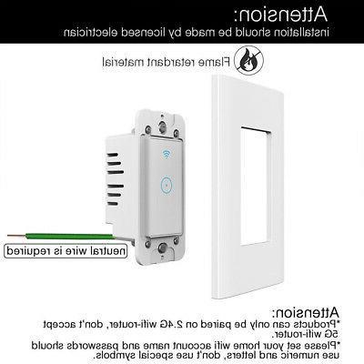110V Smart Light Switch For Alexa US
