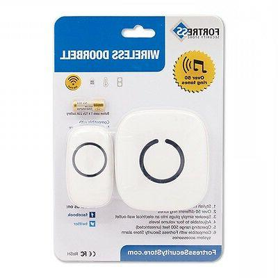 Wireless Doorbell 500 Range Fortress Home White