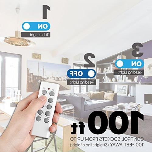 TNP Socket - LED Lighting Adapter Plug Fixture Replacement E26 E27-3 Sockets 1 Remote
