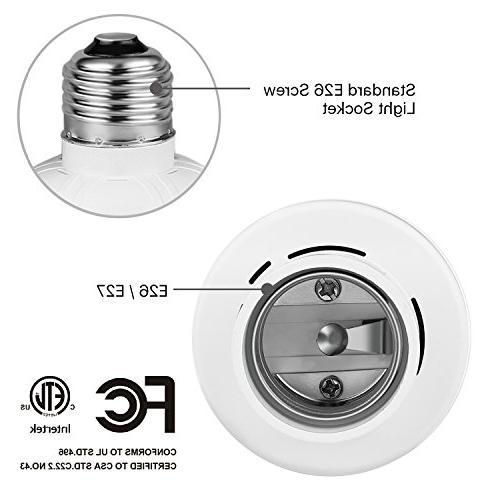 TNP Wireless Light Socket Holder - Remote Control Lighting Base Plug Replacement 1 Controller
