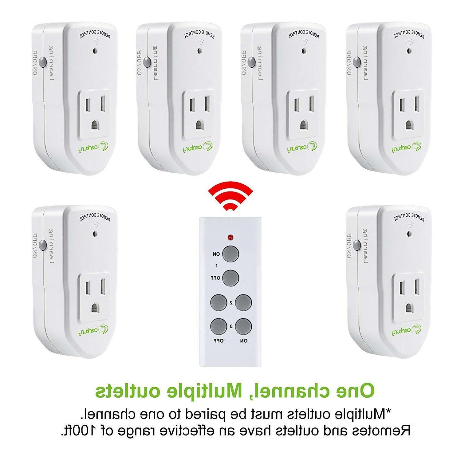 Century Wireless Remote Control Electrical Outlet for Appliance 1 Pack