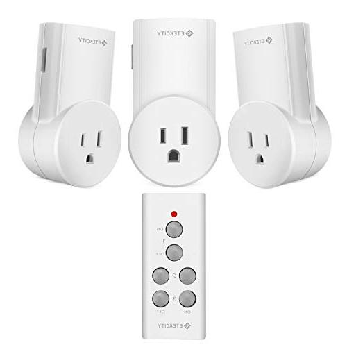 Etekcity Remote Control Outlet Wireless Light Switch for Hou