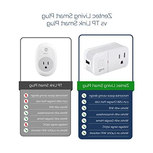 2 Pack Wifi Smart Socket Outlet With USB Compact Use | Mini Plugs Compatible with Alexa Assistant | Devices, Lights & Appliances,
