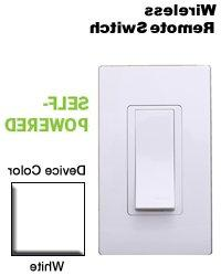 Leviton WSS0S-P0W Wireless Self-Powered Remote Switch - Whit