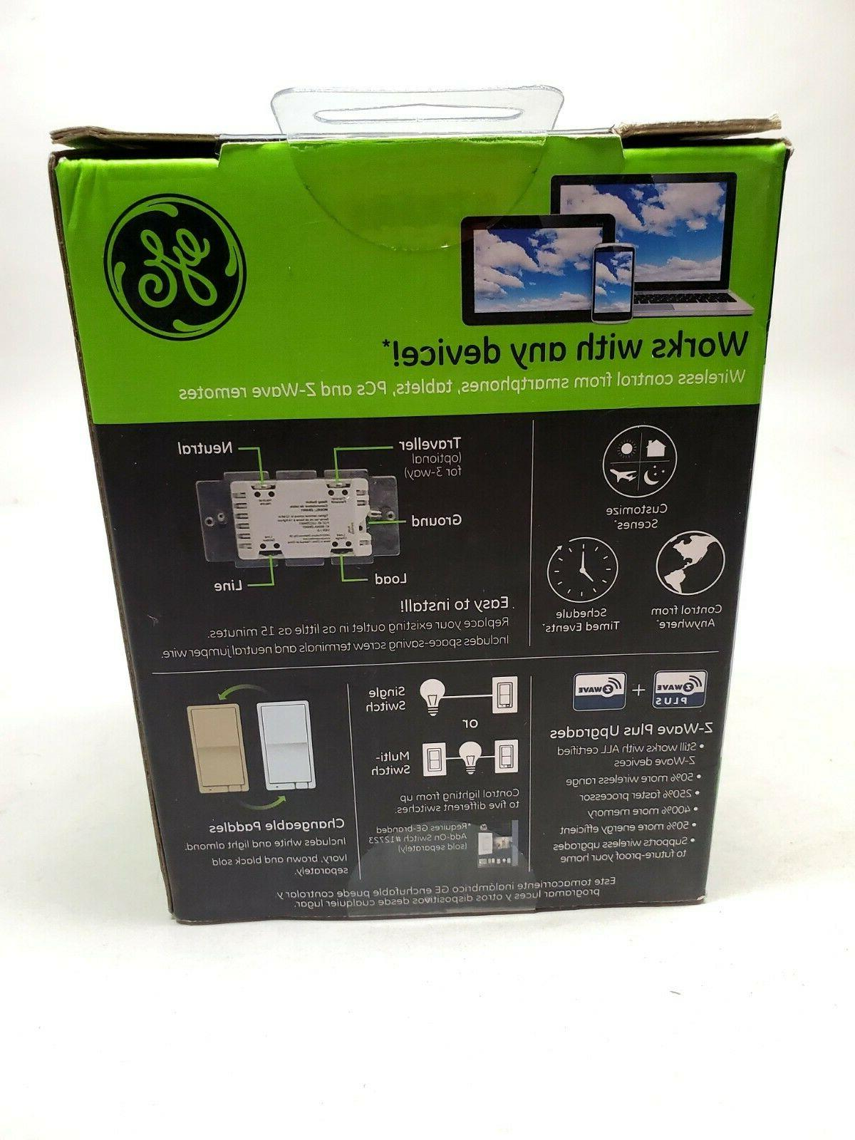 GE Z-Wave Plus Smart Wireless EZ Switch Automation