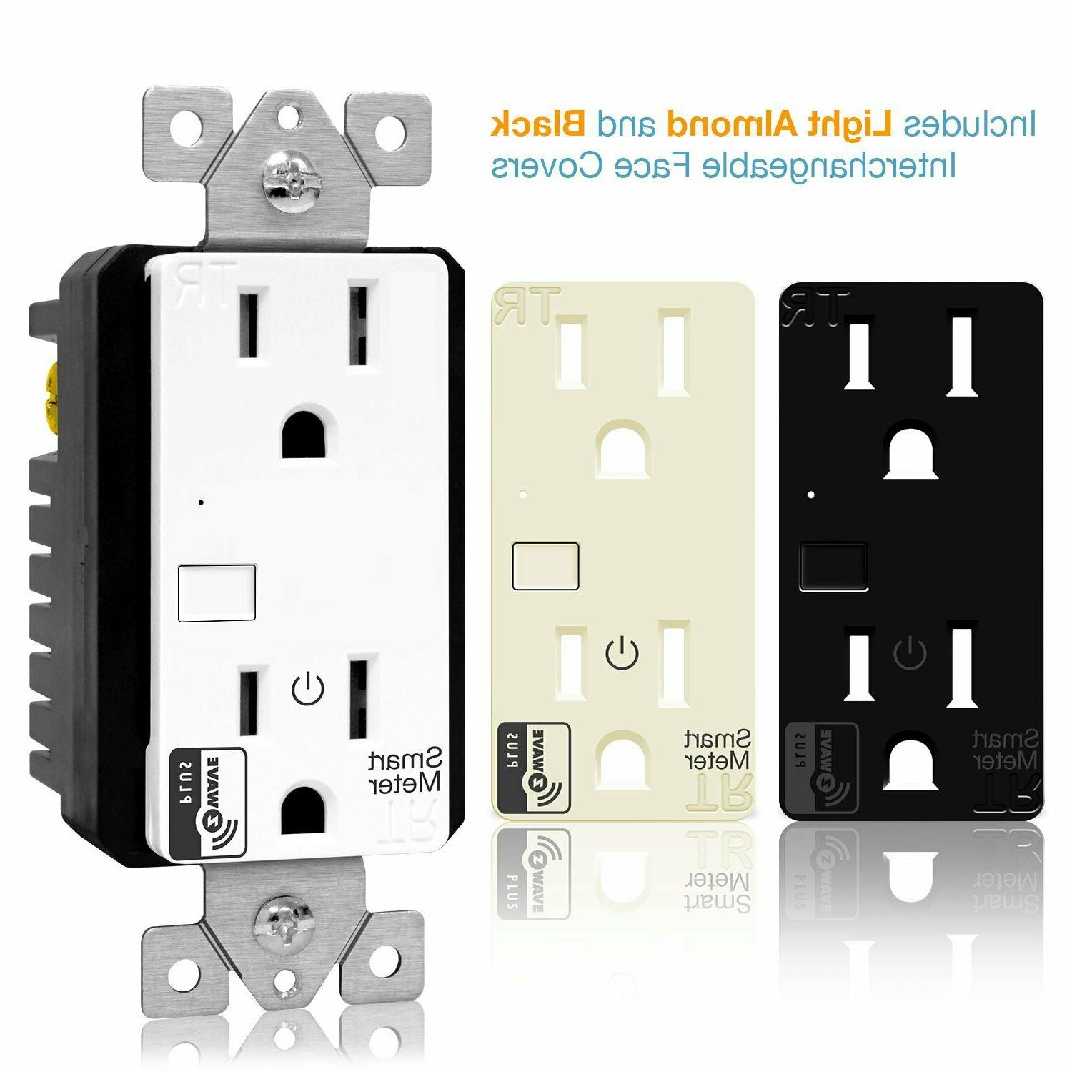 ENERWAVE Z-Wave Plus Outlet with Smart Meter Energy