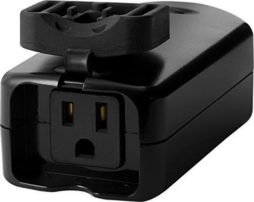 GE Enbrighten Z-Wave Plus Outdoor 1 Built-in Repeater/Range SmartThings, BLACK