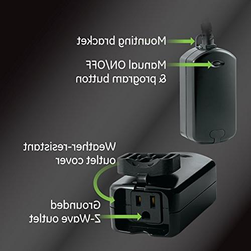 GE Outdoor Smart Plug 1 On/Off Built-in Repeater/Range Extender, Hub Required, SmartThings, Wink, Alexa,