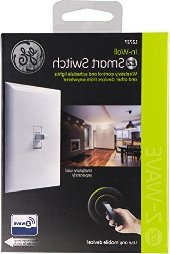 GE Z-Wave Lighting Control Light Toggle In-Wall, White, Repeater Extender, Hub Works with SmartThings and