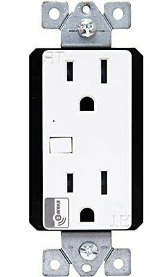 Enerwave ZW15R Z-Wave 120 Volts Interchangeable Smart Outlet